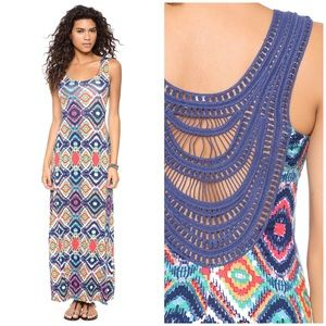 Ella Moss Sunset Totem maxi dress • crochet back